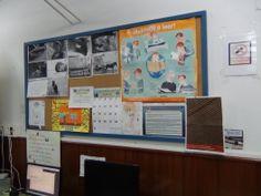 Panel informativo de la biblioteca