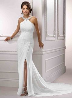 Halter-Neck 'Lilli' Wedding Dress £339.99  Sizes 6-22 available  + 'custom-size'  Choice of 28 colours  Seen a design elsewhere? can't afford the price tag? send in your images and we'll make it! @  www.tailorwedding.com