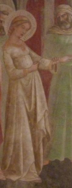 Lorenzo Monaco -  5) Sposalizio della Vergine, dettaglio (Parete  destra) - affresco - 1420-1424 - Cappella Bartolini Salimbeni - Firenze, Basilica della S. Trinità
