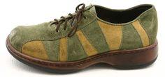 Dansko FOLLY 37 womens dress shoes Size 6.5 7 Portugal clogs khaki green OXFORDS #Dansko #Clogs @ebay