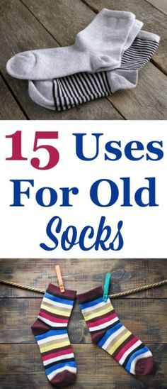 When you find yourself with lots of lone old socks without a pair don't just get rid of them. Instead, repurpose them! Here's 15 uses for old socks, including both practical and fun uses. #ad