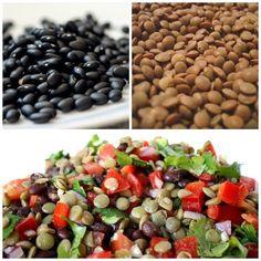 Ensalada de frijoles negros y lentejas con aderezo de lima y cilantro | La Bioguía