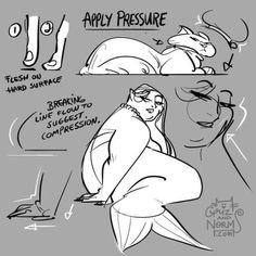 Tuesday Tips - Apply Pressure A good way to avoid floating characters on a page is to think of the compression created by pressure and gravity itself. One of the simplest way to express compression of the flesh is to break the line flow or shape flow...