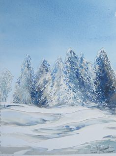 aquarelle paysage haut jura Raymond Guibert 2015