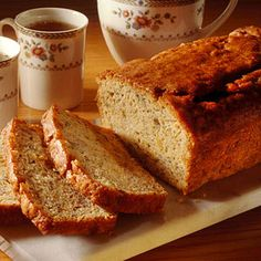 Reduced-Calorie Banana Bread Stick with this moist and tender variation of a favorite quick bread. It's lower in calories, fat, and cholesterol than the traditional version of banana bread.