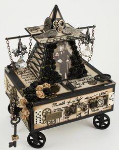 A steampunk box by Tara, using vintage image From Grandma's Attic ~ tinted - Boys