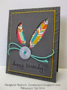 Fun Stampin' with Margaret! Four Feathers, Starburst Sayings, Endless Birthday Wishes. Aug. Control Freaks Blog Hop