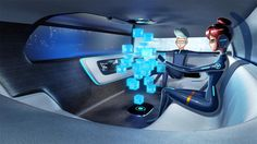 Mercedes-Benz Vision concept is a self-driving holographic lounge on wheels. The new vehicle is more club than car.