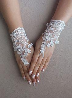 Wedding Glove ivory lace gloves Fingerless Glove by WEDDINGHome, $25.00