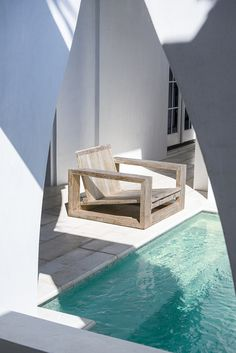 SUBLIME ORIGINAL:  Visit our site for tips how to transform your poolside. Outdoor Chairs, Outdoor Furniture, Outdoor Decor, Handmade Furniture, Sofa Chair, Bedroom Sets, Sun Lounger, Furniture Design, Dining Table