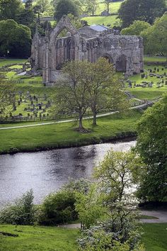 Bolton Abbey, England (Spent a lovely Christmas Day here many years ago.)  Beautiful.