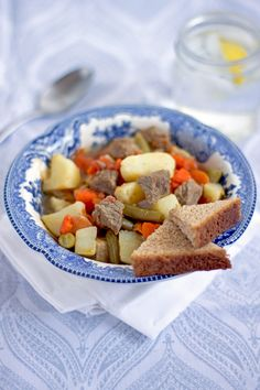 Comforting Veggie and Meat Stew. This Comforting Veggie and Meat Stew (aka Bosnian Pot Stew) is easy to make is perfectly filling and will have you coming back for more. Bosnian Recipes, Croatian Recipes, Bosnian Food, One Pot Meals, Easy Meals, Lamb Stew, Savoury Dishes, Popular Recipes, Recipe Using