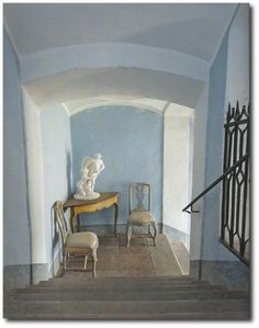 Gustavian style. The colors are perfectly soft.