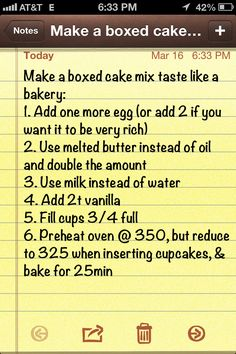 Make a boxed cake mix taste like a bakery. (To us with the heart-shaped cake idea for Valentine's Day!)