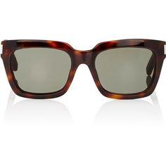 Saint Laurent Bold 1 Sunglasses ($375) ❤ liked on Polyvore featuring accessories, eyewear, sunglasses, multi, tortoiseshell glasses, yves saint laurent, acetate glasses, etched glasses and tortoise shell sunglasses