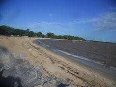 la playa Seré sobre el Río de la Plata.