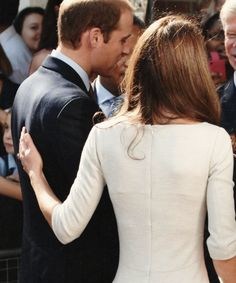 I love these shots of the two of them. Royals aren't know for being touchy freely. This is so refreshing. Just a young couple in love.