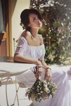 beach, boho, elegant, garden, ivory, lace, modern, off the shoulder, romantic, silk, unique, vintage, wedding dress, white