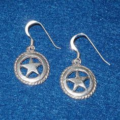 Texas Star Earrings made with Sterling Silver. $26.00, via Etsy.