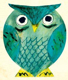 cute owl by Atsushi Hara (http://drawn.ca/archive/tag/miroslav-sasek/)