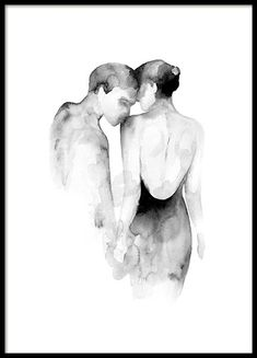 Buy Desenio's most popular posters featuring Scandinavian art online. Order popular art prints online from our online shop. Art And Illustration, Watercolor Illustration, Watercolor Paintings, Art Paintings, Paintings Of Couples, Watercolor Sketch, Indian Paintings, Sketch Art, Abstract Paintings