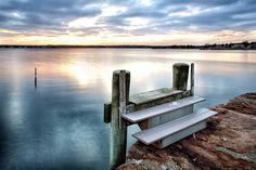 Winter Sunset on Mattapoisett Harbor