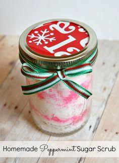 Homemade Peppermint Sugar Scrub in a Jar