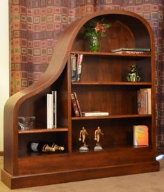 Cherry Baby Grand Piano Bookcase ~ This would be the perfect case to store all the music for the piano in a music room!