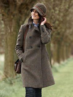Modisch femininer 'Harris - Tweed' - Mantel aus www.the-british-shop.de