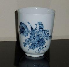 Vintage Royal Copenhagen Denmark 1966 Hand Painted Blue Bouquet Floral Cup