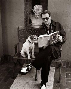 Johnny Depp and Friend, Book Lovers