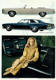 1971 Pontiac Grand Ville Convertible and Four Door Hardtop
