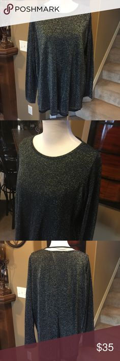 Metallic and Georgette Sweater - NWT 47% modal 30% cotton 15% polyester 8% other fiber with 100% polyester lining.  ND Long Tall Sally Sweaters