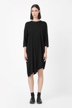 Asymmetric merino dress