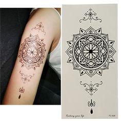 Waterproof Tattoo Stickers Temporary Flower Tattoos Sexy Body Art Fake Tattooing