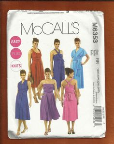 McCalls 6353 The Infinity Dress Fitted by ThimbledFingerTips, $9.25