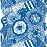 Tessuto Siirtolapuutarha, blu - Marimekko
