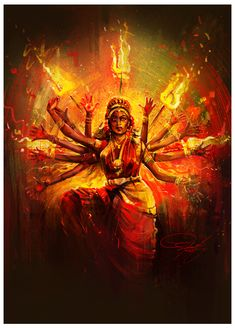 ArtStation - Durga, Srikanth M Shiva Hindu, Shiva Shakti, Hindu Deities, Hindu Art, Kali Shiva, Krishna, Rudra Shiva, Kali Mata, Indian Goddess Kali