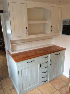 Kitchen unit painted in Little Greene's 'Slaked Lime' and 'Salix'. Twitter - @Lewis Chaplin Chaplin Harrington