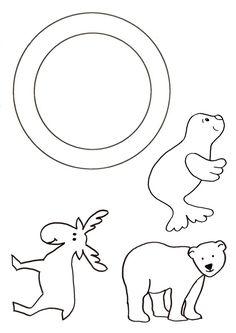 Gabarit - Guirlande animaux polaires