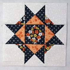 Happy Today we're going to sew together a January Thaw quilt block - I thought the name was appropriate! The January Thaw quilt block is pretty easy with only three basic units and it went together fast! Let's get started! Star Quilt Blocks, Star Quilt Patterns, Star Quilts, Easy Quilts, Pattern Blocks, Pattern Sewing, Scrappy Quilts, Quilting Ideas, History Of Quilting