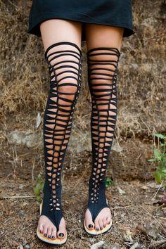 long black sandals