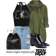 Allison Argent inspired outfit/TW by tvdsarahmichele on Polyvore featuring Boohoo, Topshop, Acne Studios, 3.1 Phillip Lim and Givenchy
