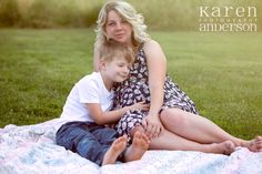 Maternity photography, mother son photography, siblings, Karen Anderson Photography