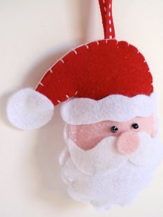 Felt ornament Santa Claus - christmas ornament - tree decoartion - handmade ornament