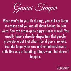 Gemini Temper. Don't raise your voice, improve your argument.