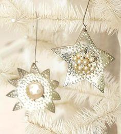 DIY-Sparkling Silver Stars