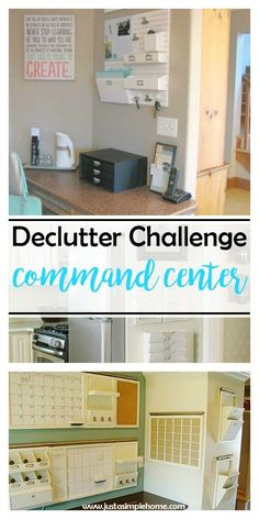 Declutter Challenge Day 8- Create a Command Center- do you have a central place for all your family's happenings? Take a few minutes to create one with us today.