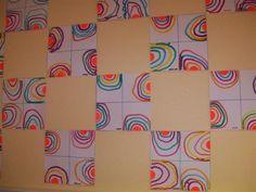 compare with Escher's designs- chop up a shape and move or flip the cutouts Art Montessori, Form Drawing, Kindergarten Art Projects, Pre Writing, Sick Kids, Common Core Math, Art Graphique, Art Activities, Art Plastique