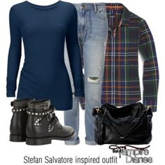 Stefan Salvatore inspired outfit/The Vampire Diaries